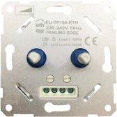Inbouw LED/halogeen/gloeilamp dimmer 230v dubbel 2 x 5-100W