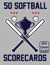 50 Softball Scorecards With Lineup Cards