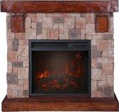 EL Fuego elektrische open haard Rocky Mountain - steenmotief - 1800 W