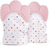 Bijthandschoen - Pastel Roze - Bijt - speelgoed - handschoen - bijtring - speelgoed - kraamcadeau