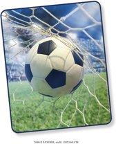 Elegante Plaid Voetbal 130x160 - Prachtige Design - Heerlijk Zacht