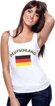 Witte dames tanktop met vlag van Duitsland S