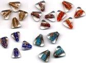 20 Stuks Hand-made Jewelry Beads - Driehoek - 5 Verschillende Kleuren