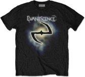 Evanescence - Classic Logo heren unisex T-shirt zwart - L