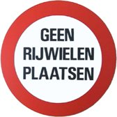 Bord geen rijwielen plaatsen diameter 236 mm