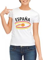 Wit dames t-shirt Spanje XL