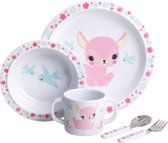 A Little Lovely Company | Hertje | Melamine servies | 5-delig | Kinder Eetset