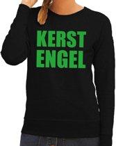 Foute kersttrui / sweater Kerst Engel zwart voor dames - Kersttruien M (38)