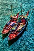 Two Colorful Boats on the Water Journal
