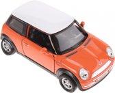 Welly Schaalmodel Mini Cooper Die-cast Oranje