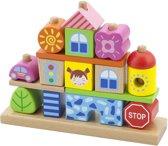 Viga Toys Blokkenset Stad Multicolor