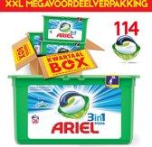 Ariel Alpine Pods 114 pods | Geschikt voor iedere was | 114 capsules | Kwartaalpakket | XXL voordeelverpakking | Megabox | Ariel Wasmiddel | Frisse geur | Uitstekend resultaat