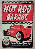 Wandbord Hot Rod Garage Metaal Muur Decoratie Emaille Vintage Retro Tekst Metalen Reclame Bord - Metal Tin Sign - Vitch!™