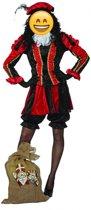 Zwarte Piet Kostuum   Dieprode Gestreepte Piet Dames   Vrouw   Maat 38   Sinterklaas   Verkleedkleding
