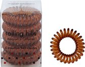 Rolling Hills 5 traceless hair elastics coffee nr 67