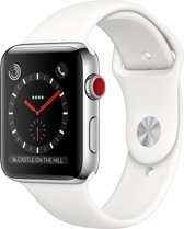 Apple Watch Series 3 OLED GPS + Cellular,  42mm Roestvrijstaal smartwatch