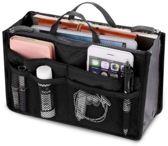 Bag in bag tas organizer – 11 vakken – zwart