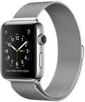 Milanees bandje geschikt voor Apple Watch 38-40mm RVS - Zilver