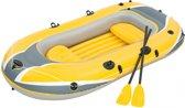 Hydro Force Boot Raft Set 250 Met Peddels Geel 255 X 127 Cm