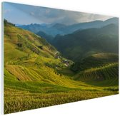 Rijstvelden Bali Glas 120x80 cm - Foto print op Glas (Plexiglas wanddecoratie)
