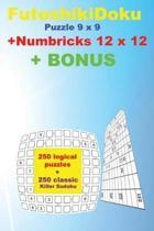 Futoshikidoku Puzzle 9 X 9 + Numbricks 12 X 12 + Bonus