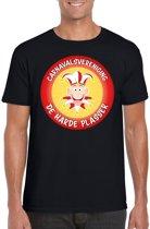 Carnavalsvereniging De Harde Plasser fun t-shirt heren zwart - Brabant carnaval verkleedkleding XL