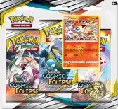 Pokémon Sun & Moon Cosmic Eclipse 3BoosterBlister Victini - Pokémon Kaarten