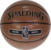 Spalding NBA Silver basketbal- oranje/zwart/zilver - maat 7 - in & outdoor