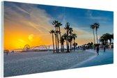 Venice beach zonsondergang Glas 90x60 cm - Foto print op Glas (Plexiglas wanddecoratie)
