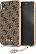 Guess 4G Charms Back Cover voor Apple iPhone XR (6.1'') - Bruin