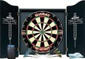 Winmau Pro Dartkabinet - Inclusief sniper wedstrijddartbord - 6 dartpijlen