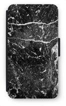 Samsung Galaxy S6 Edge Flip Hoesje - Zwart marmer
