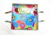 2 Love it RetroCirkel B - Armband - scharniersysteem - Multicolor