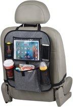 Auto organizer met tablethouder - Autostoel organiser met tabletvak - iPad houder auto – KidsPlaza.nl – Grijs