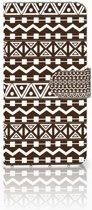 Huawei P30 Lite Uniek Boekhoesje Aztec Brown