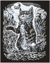 Sequin Art • Krasfolie zilver Kitten