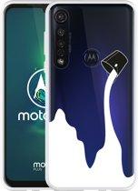 Motorola Moto G8 Plus Hoesje Paint Bucket