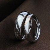 Ring met hart man 22.3mm zwart (Maat 13)