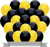 Ballonnen Zwart / Geel (30ST)