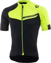 Rogelli Contento Wielrenshirt  Fietsshirt - Maat L  - Mannen - geel/zwart
