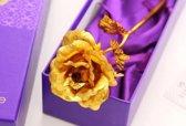Gouden roos met  (GOUD) certificaat + luxe doos