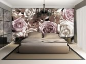 Roses Flowers  Photo Wallcovering