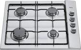 Pelgrim GK415RVSF inbouw gas kookplaat - 90 cm butaan / gas