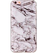 Mobigear Marmer Softcase Hoesje Wit voor Apple iPhone 6 / 6s