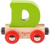 Bigjigs - Rails - Naamtrein - Letter D - Geel