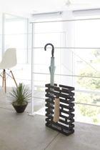 Yamazaki Paraplubak Parapluhouder - Brick Rechthoekig zwart - RVS