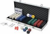 Pokerset met Koffer 500 Chips - Poker chips set - Pokerset Alumunium Koffer
