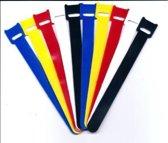 Klittenband Kabelbinders 100 stuks Kleurenmix