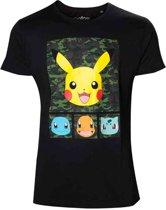 Pokémon - Pikachu and Friends camo T-Shirt XL