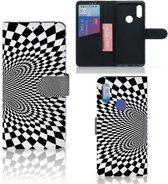 Bookcase Xiaomi Redmi 7 Zwart-Wit Design Illusie